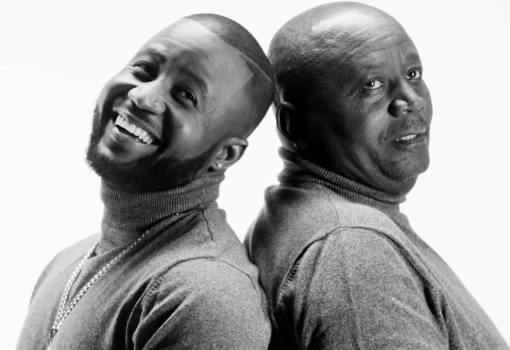 Cassper Nyovest and his dad in the Superman video