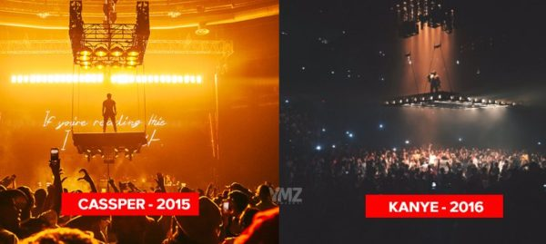 Cassper Nyovest's Fill Up The Dome Stage vs Kanye West's Life of Pablo tour stage