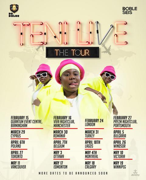 Teni live tour