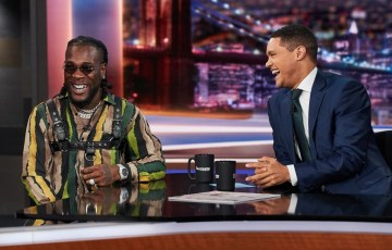 Burna Boy on the Daily Show with Trevor Noah