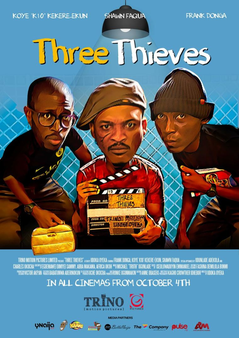 watch the trailer for Three thieves official poster Trino Studio