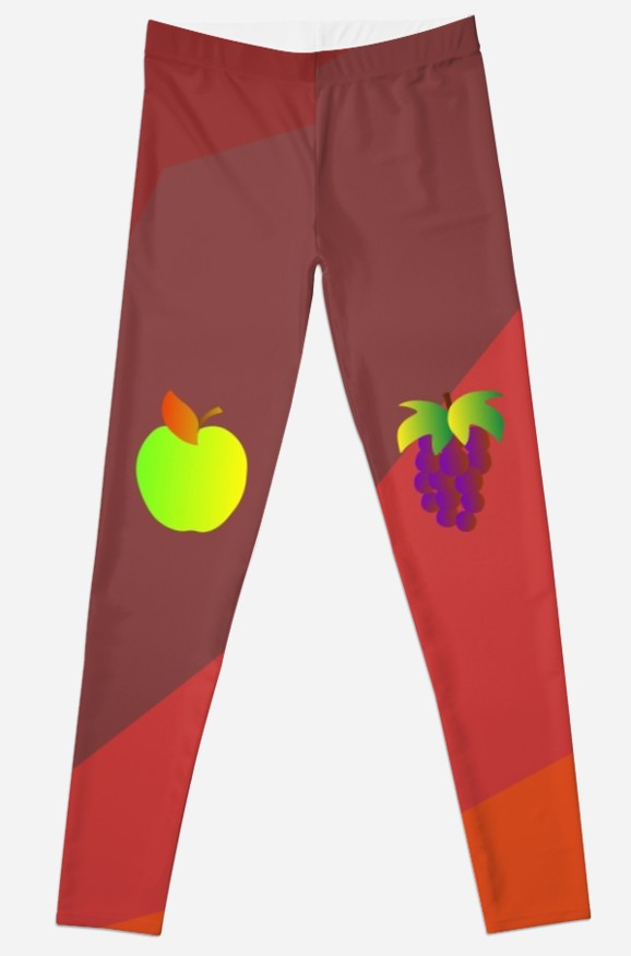 Apple Pear Grapes Leggings