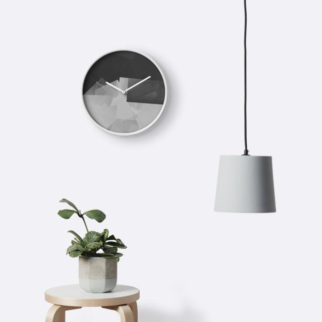 Culturedarm Logo Monochrome Invert Clock
