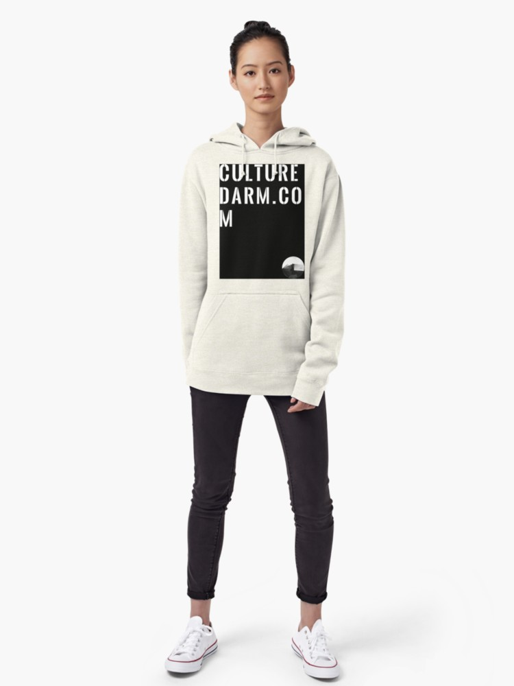 Culturedarm Black Box Text Oatmeal Hoodie