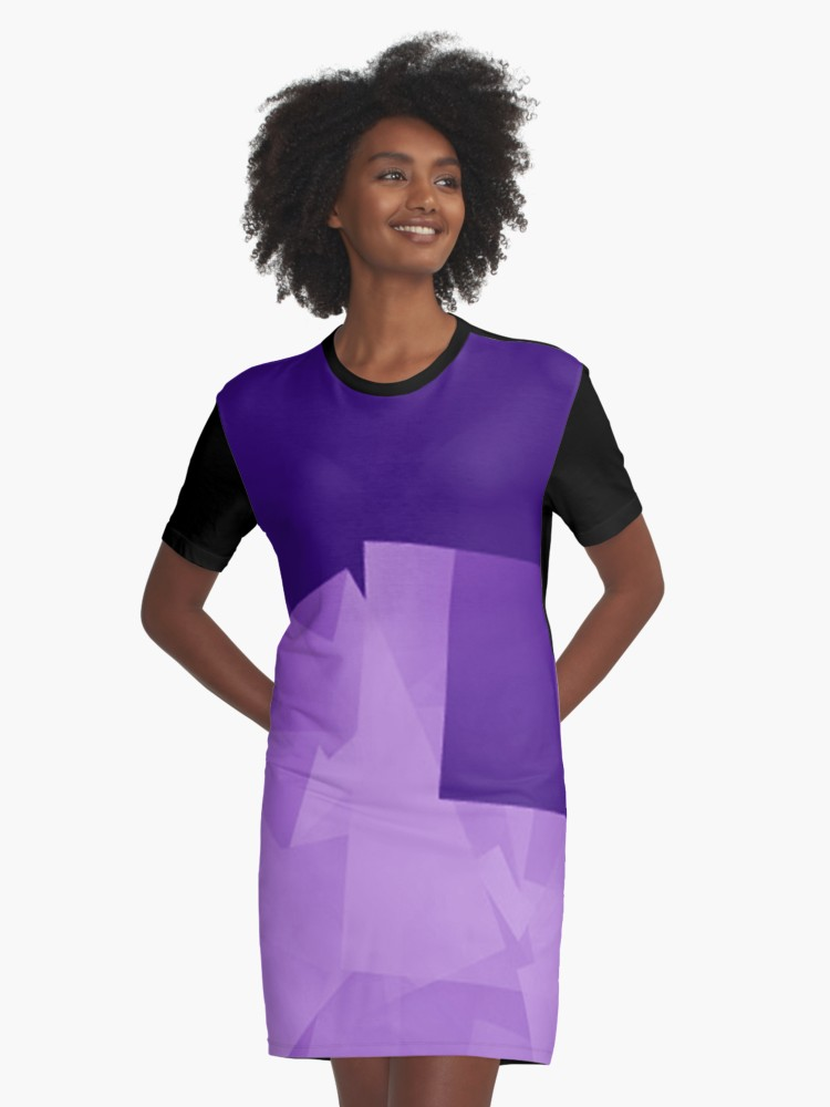 Culturedarm Logo Indigo Violet Graphic T-Shirt Dress