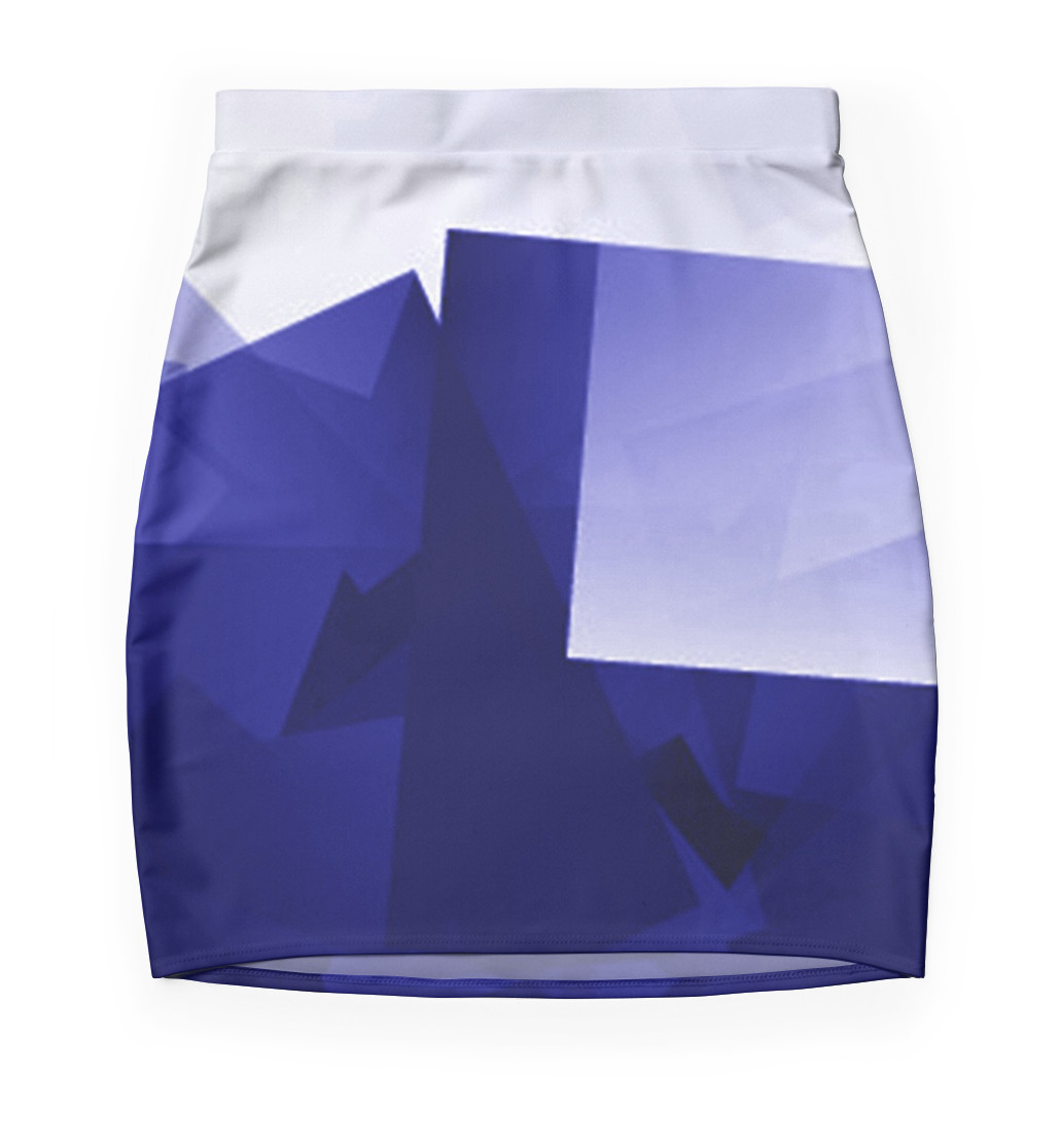 Culturedarm Logo Ultramarine Mini Skirt