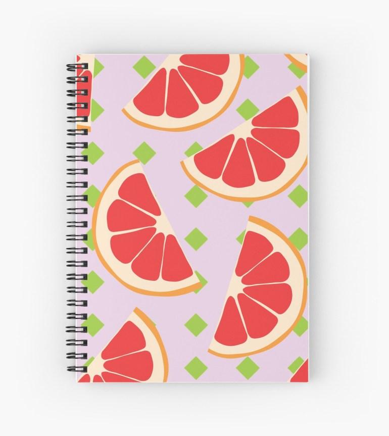 Culturedarm Grapefruits Spiral Notebook