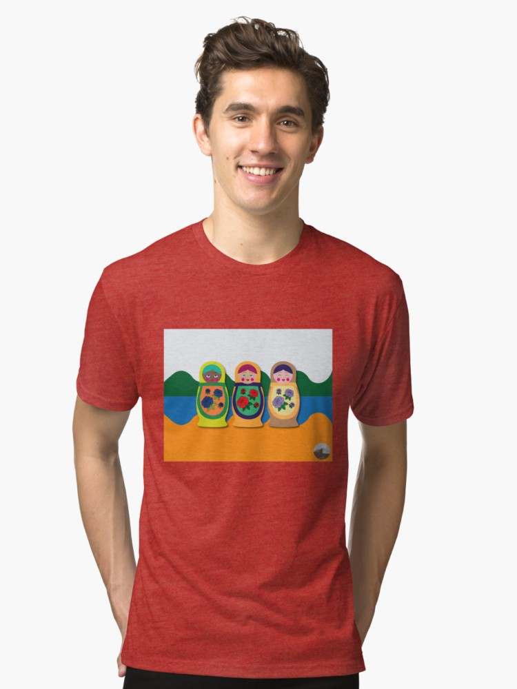 Culturedarm Russian Dolls Red Tri-Blend T-Shirt