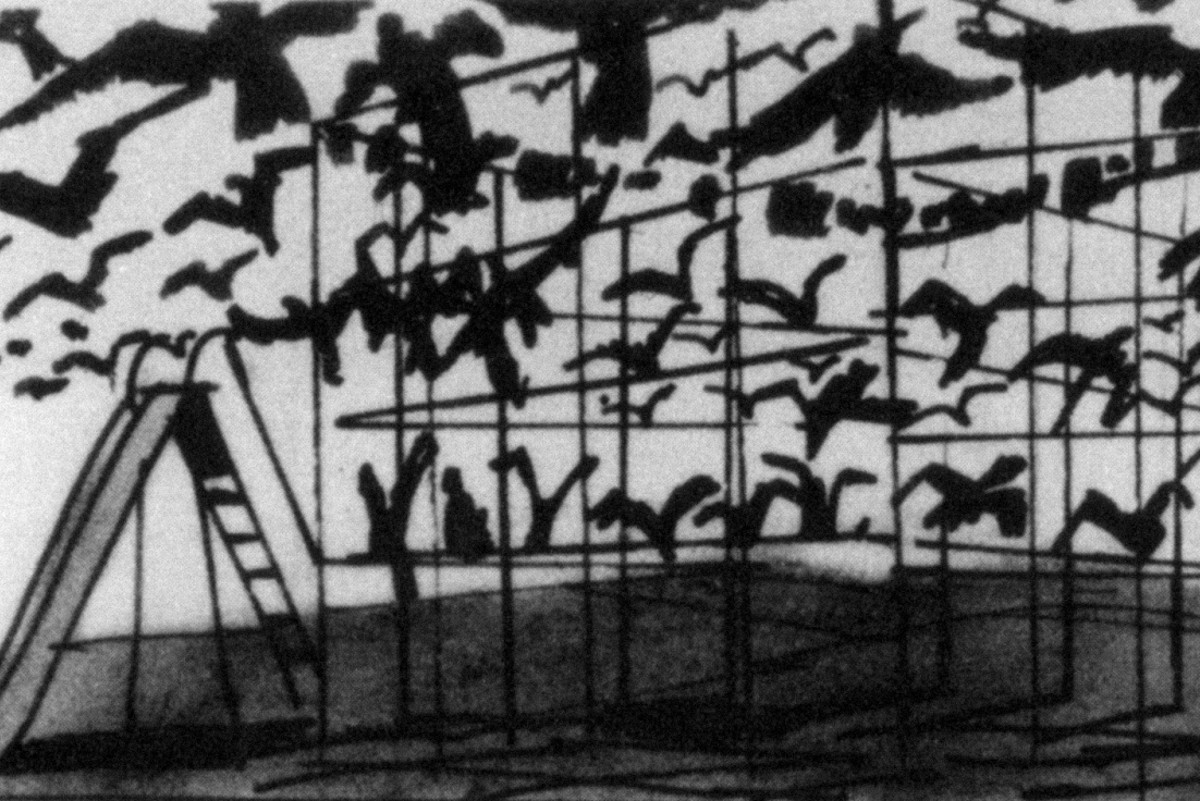 The Birds (1963): Storyboarding the Scene at the Schoolhouse