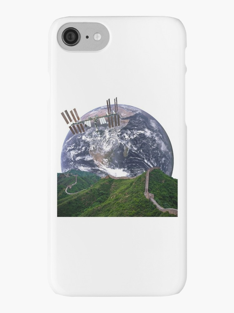 Parallax Great Wall from Space iPhone Cover