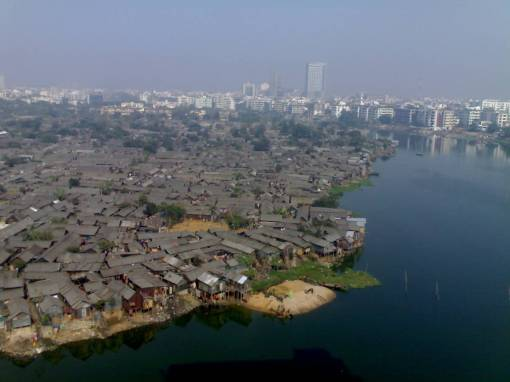 Some of the slums that line the outskirts of New Delhi