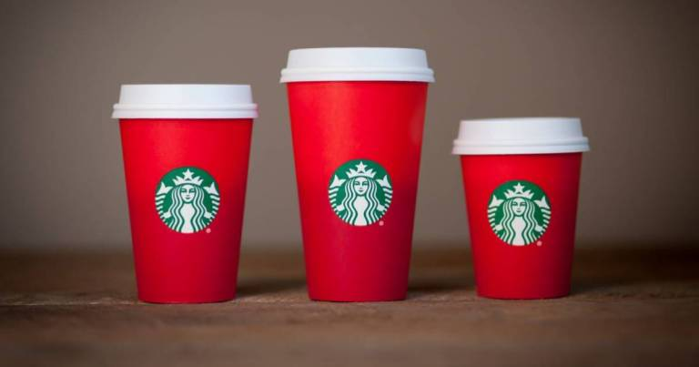 red Christmas cup
