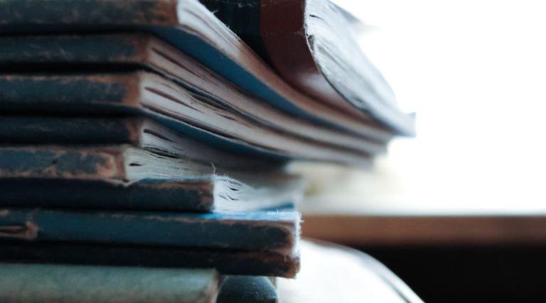 worn books