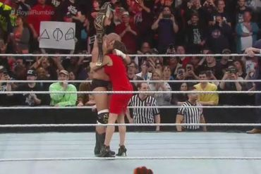 HHH wins the royal rumble