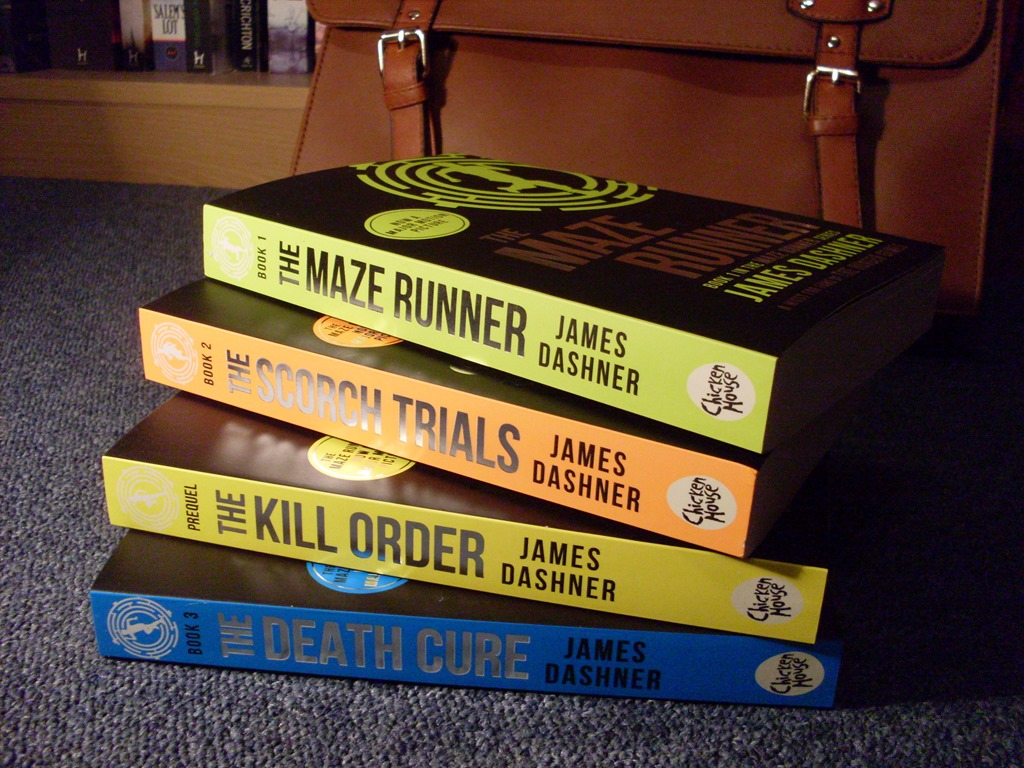 Spines of Maze Runner