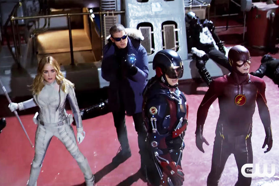 Captain Cold, White Canary, The Atom and The Flash