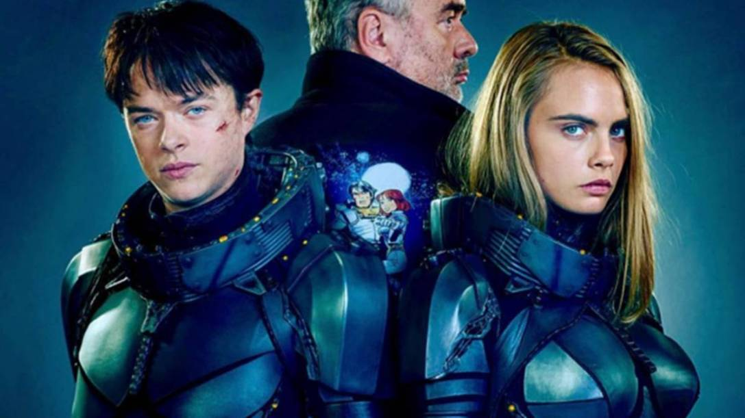 Cara Delevingne and Dane DeHaan in Valerian