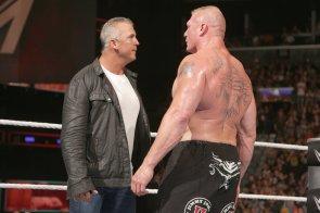 Brock Lesnar and Shane McMahon
