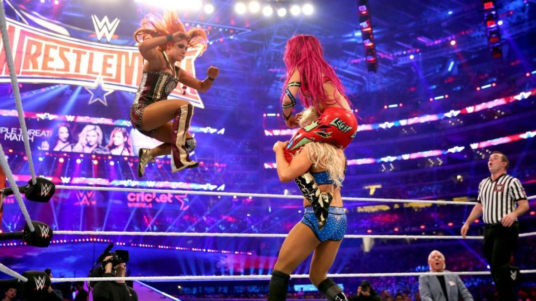 Becky Lynch, Sasha Banks and Charlotte Flair