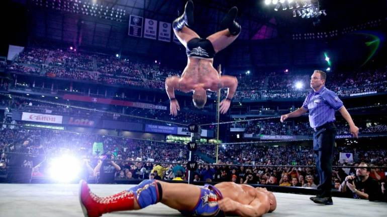 Brock Lesnar shooting star press