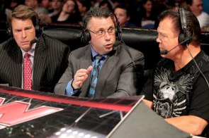 Jerry Lawler, Michael Cole and JBL