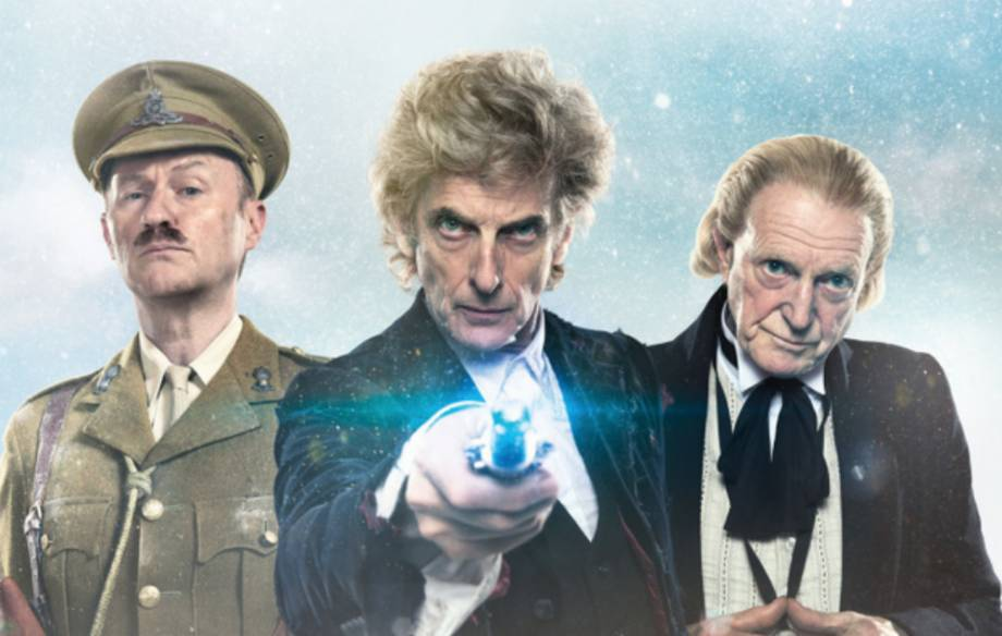 Mark Gattis, Peter Capaldi and David Bradley
