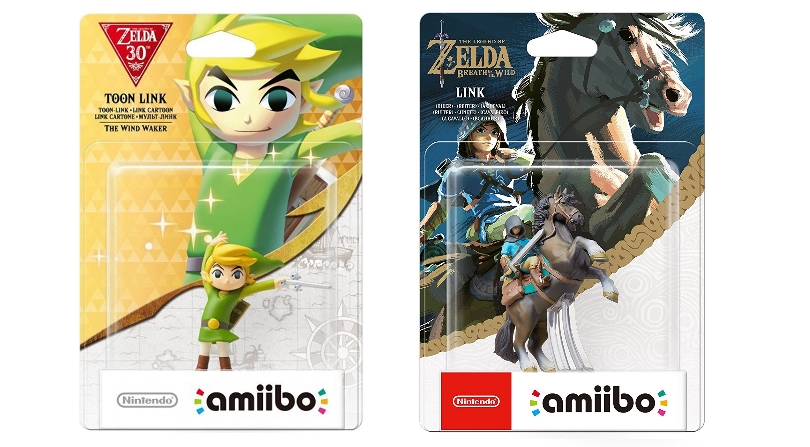 Zelda Amiibos in packaging