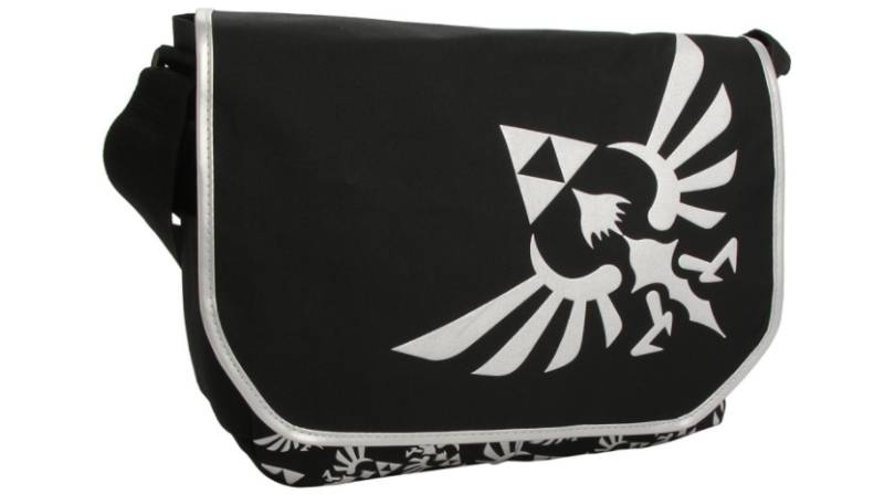 Zelda black messenger bag
