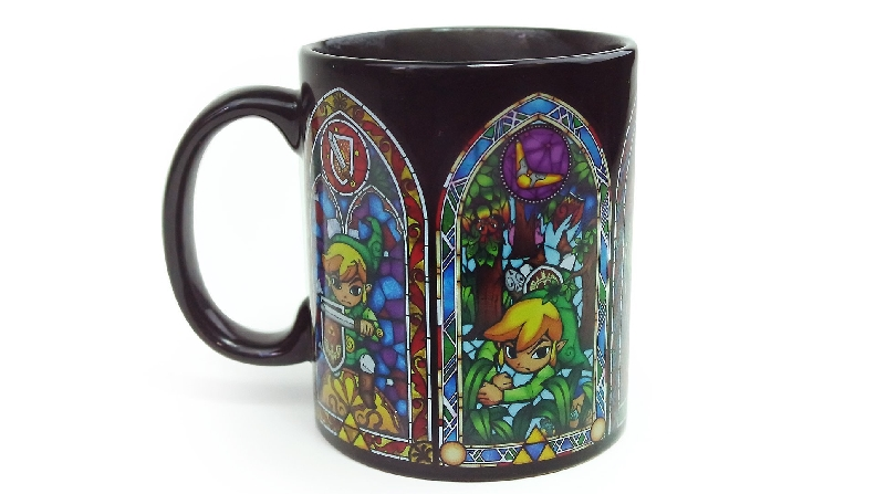 Zelda stained glass heat changing style coffee mug
