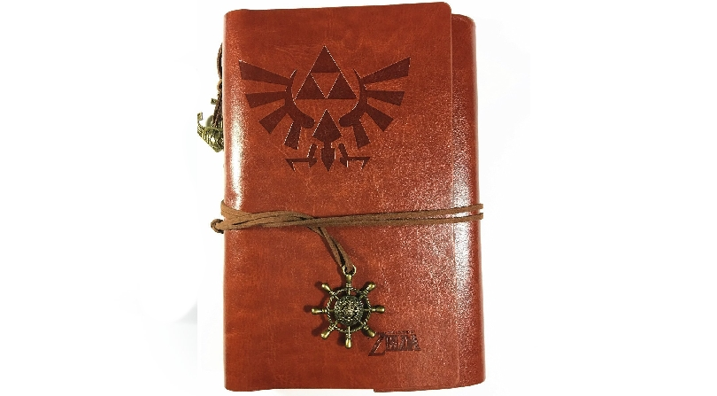 Zelda brown leather style journal
