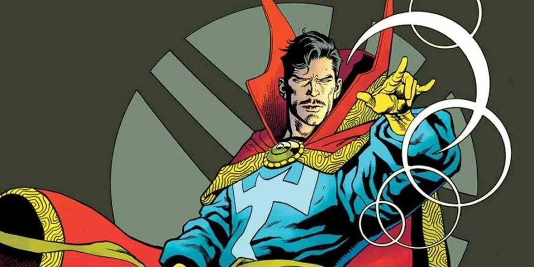 Dr Strange comics panel