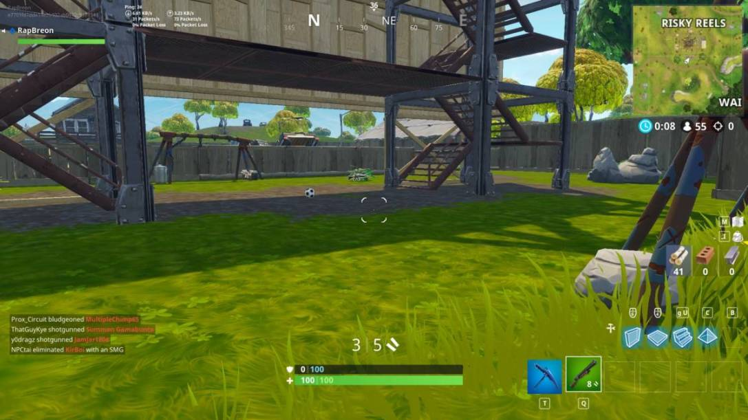 Fortnite soccer pitch