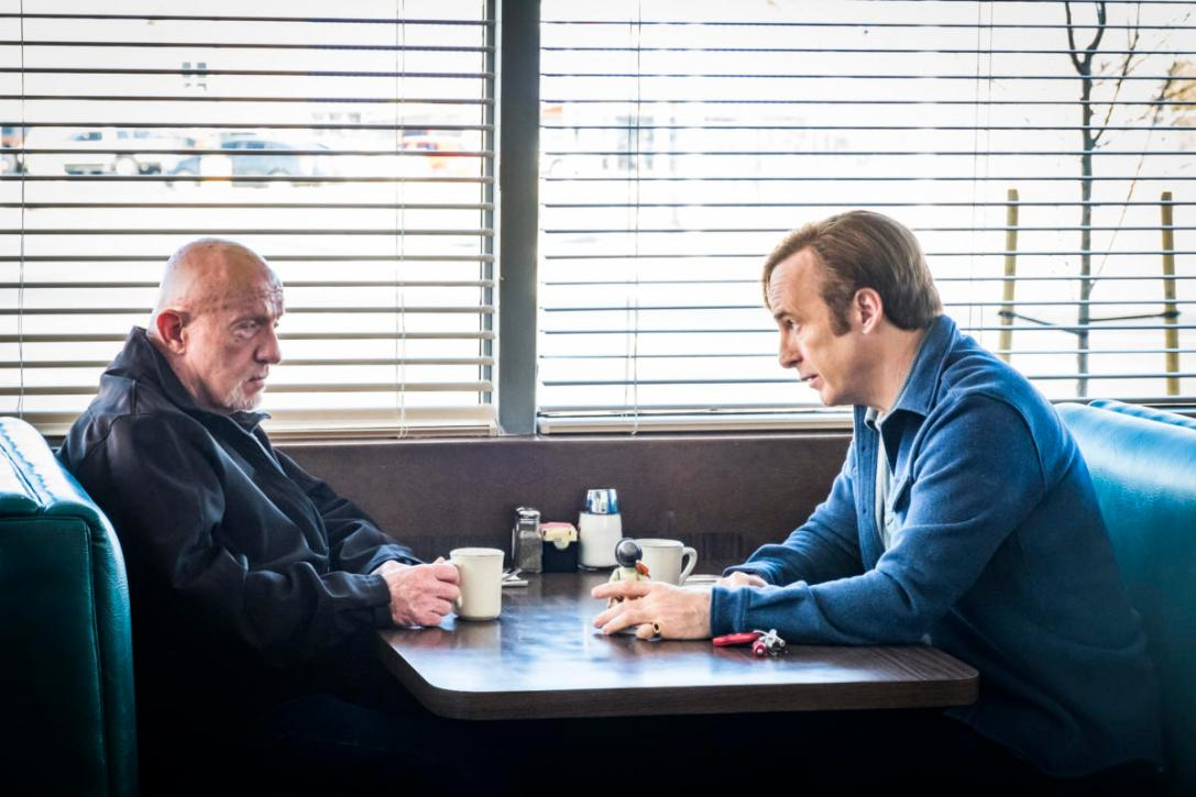 something beautiful Jonathan Banks as Mike Ehrmantraut, Bob Odenkirk as Jimmy McGill - Better Call Saul _ Season 4, Episode 3 - Photo Credit: Nicole Wilder/AMC/Sony Pictures Television