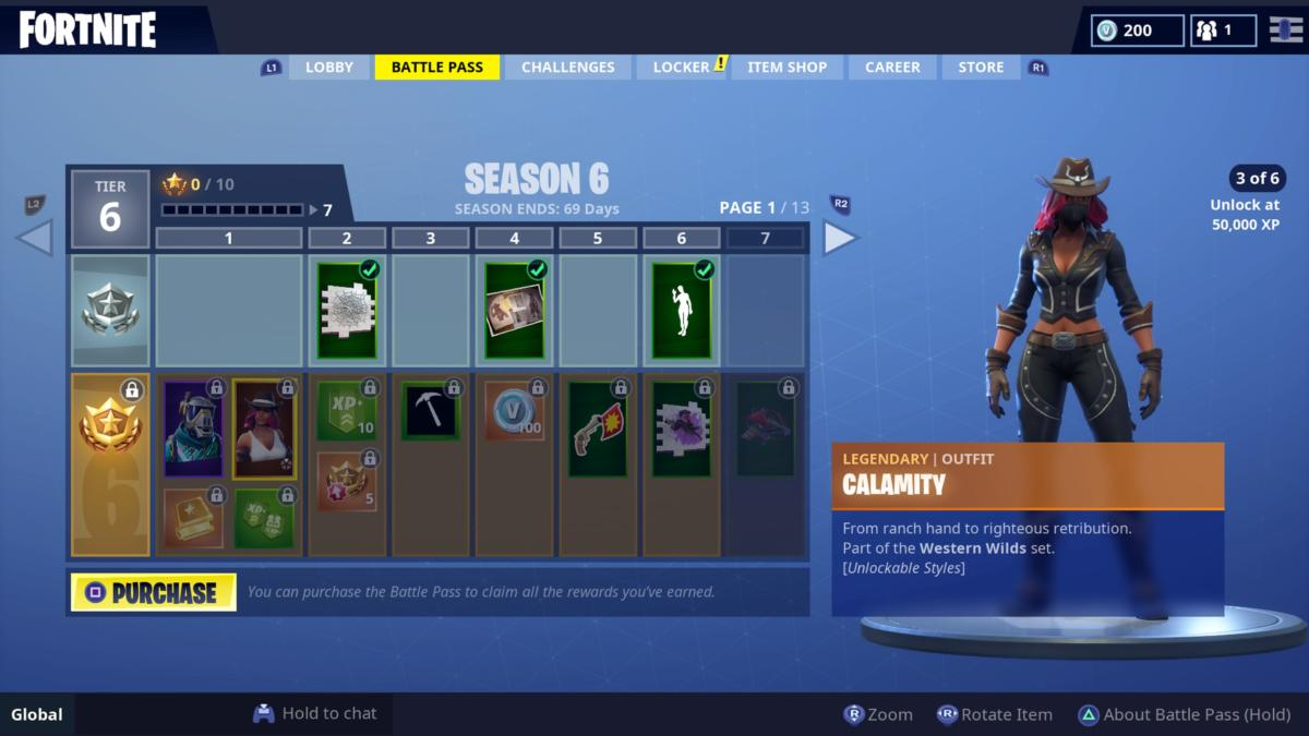 Fortnite Season 6 Battle Pass Skins Calamity Dire Dusk More