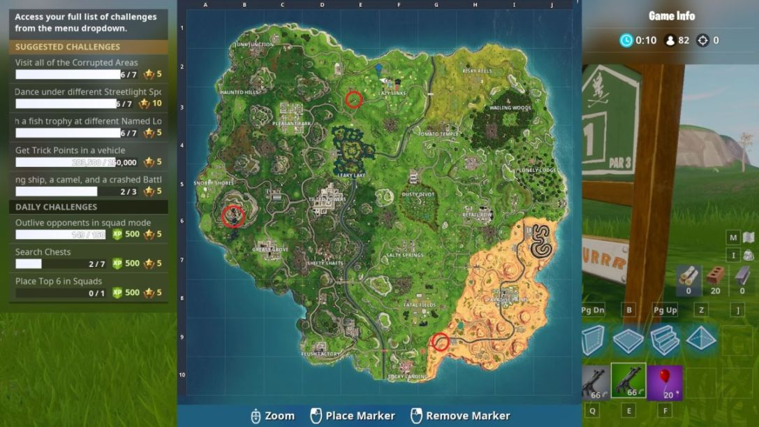Camel Bus locations Fortnite