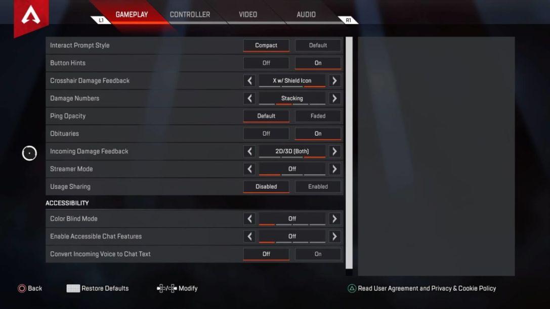 Battlefield 1 video settings ps4