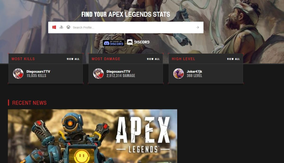 How To Check Your Apex Legends Stats: Wins, K/D, Leaderboards & More