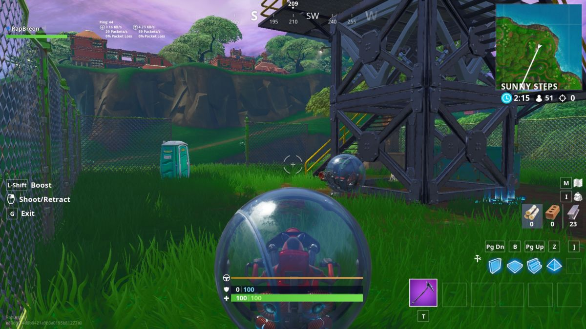 Fortnite Season 8: Use The Baller In Different Matches