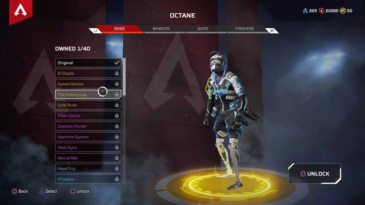 Octane Victory Lap Apex Legends