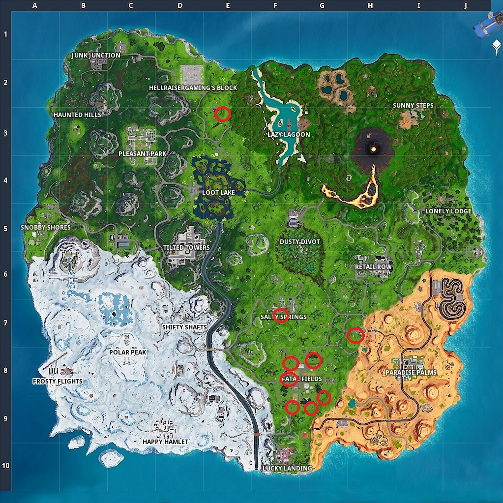 Fortnite Apples Locations