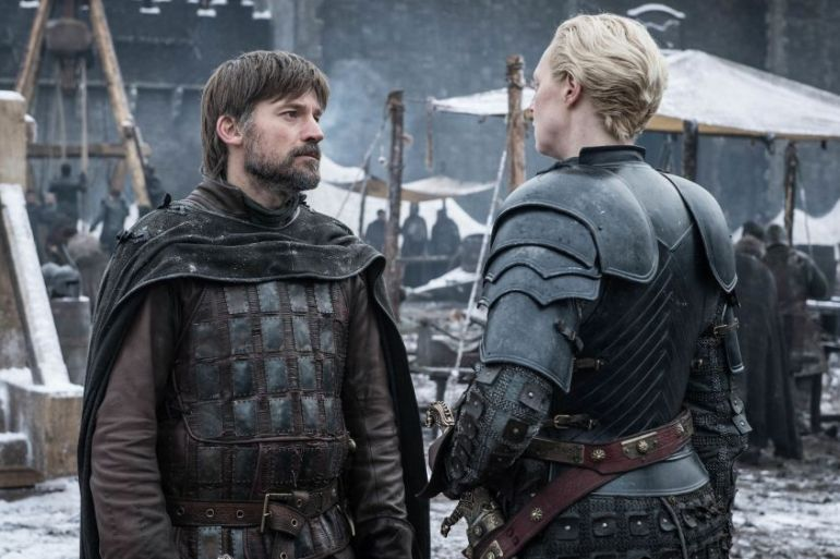 Nikolaj Coster-Waldau gwendoline christie a knight of the seven kingdoms