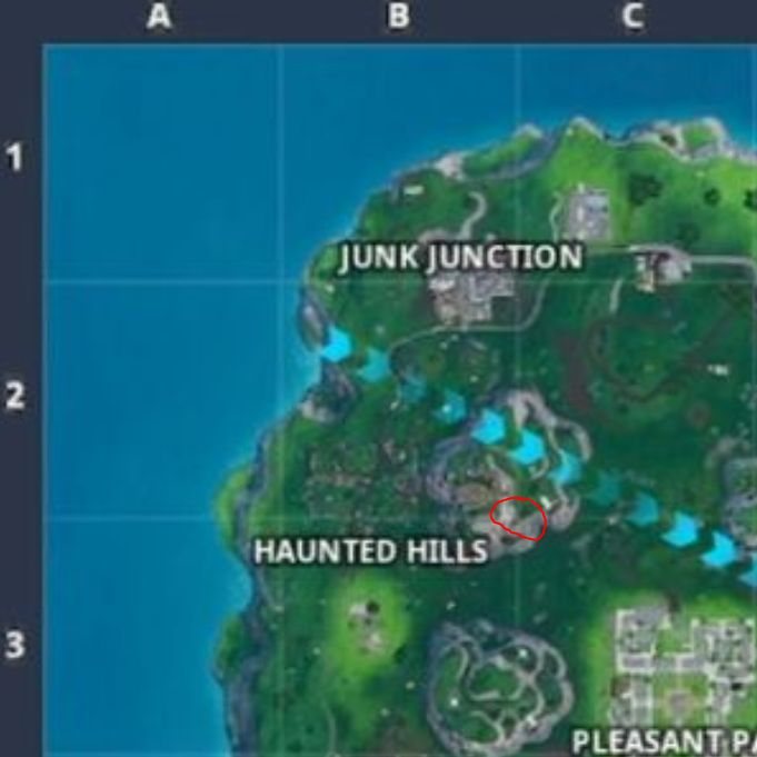 Fortnite Week 5 Season 9 loading screen map