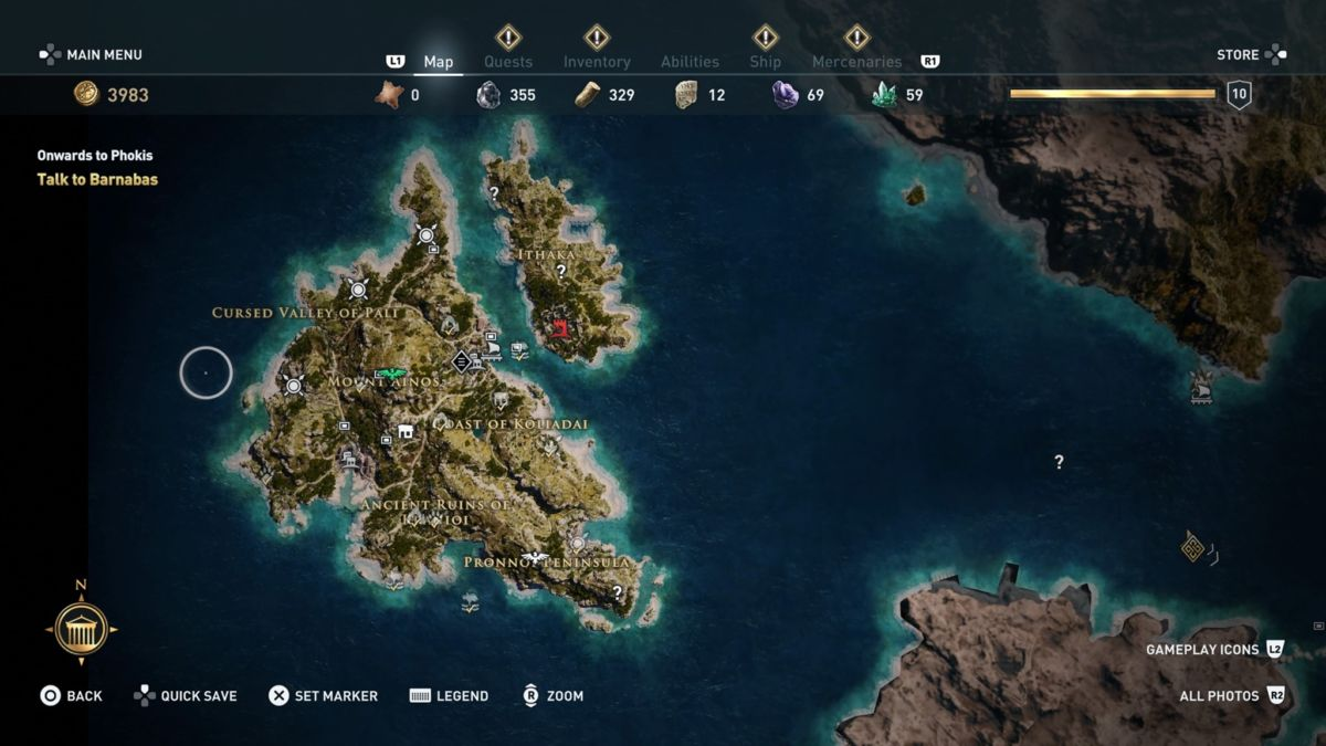 Assassin S Creed Odyssey S Map Size Is A Little Overwhelming In A