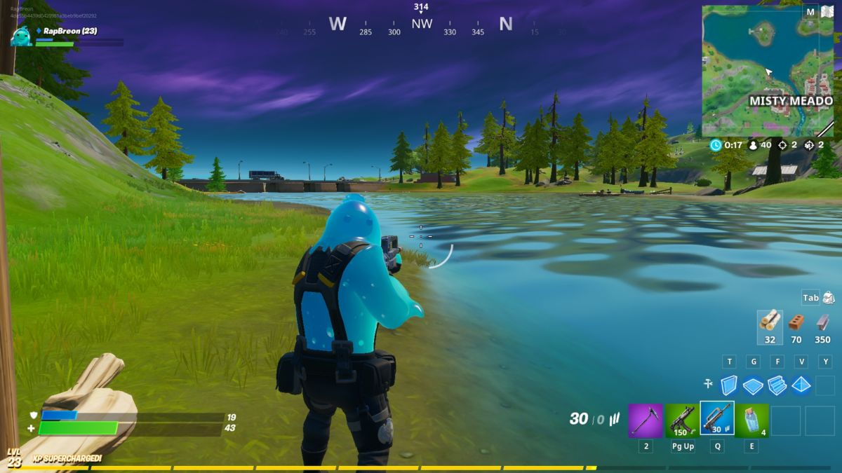 Fortnite Dive Complete The Swimming Time Trials At Lazy