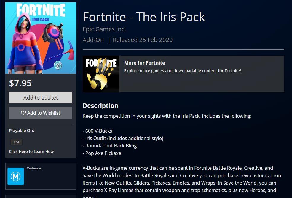 Fortnite Iris Pack