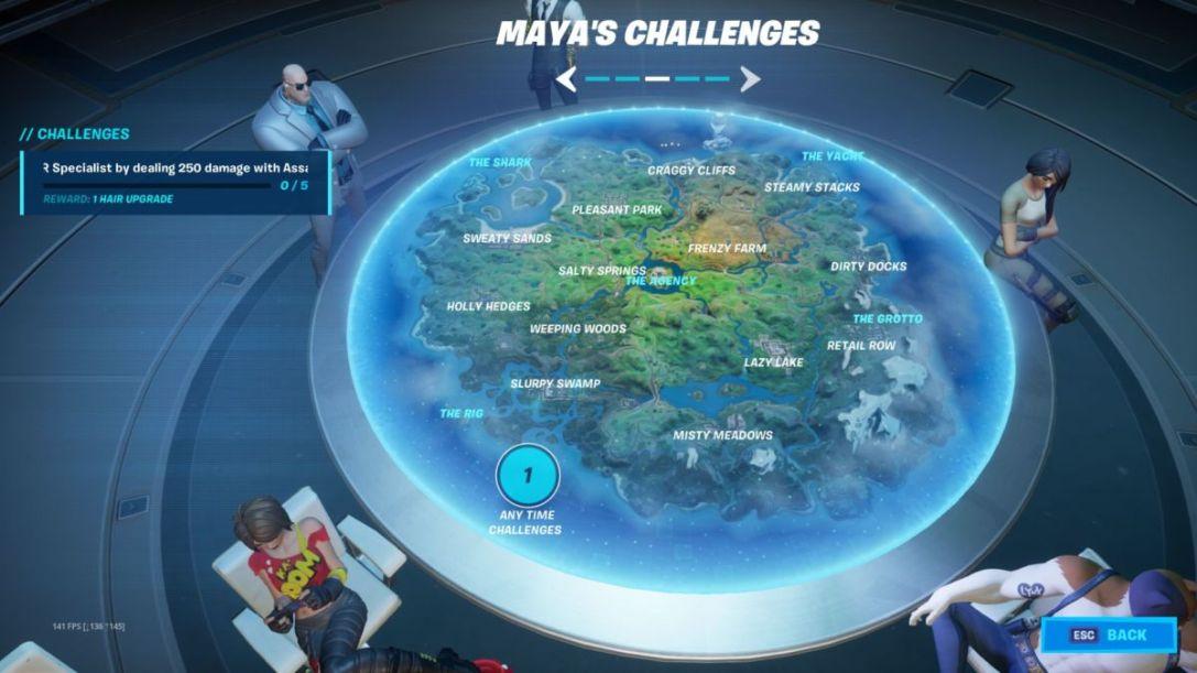 Fortnite Maya challenges