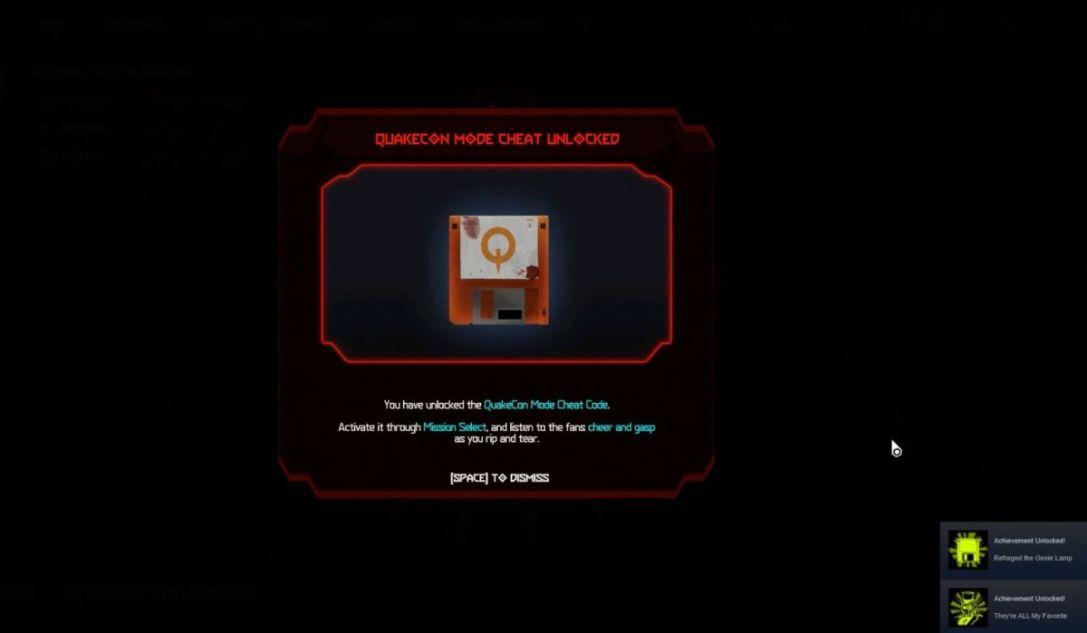 QuakeCon Mode Cheat