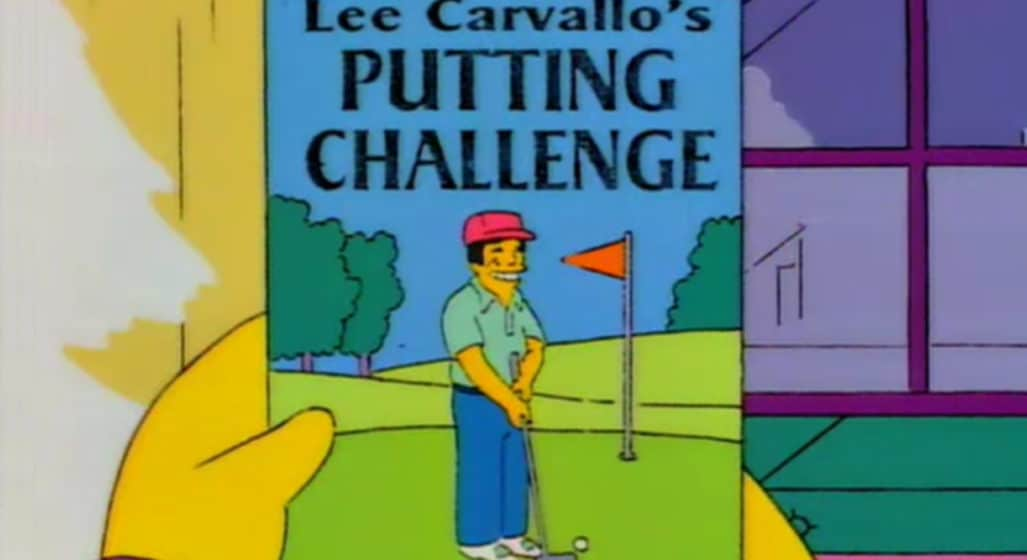 You Can Now Play Lee Carvallo's Putting Challenge From The Simpsons