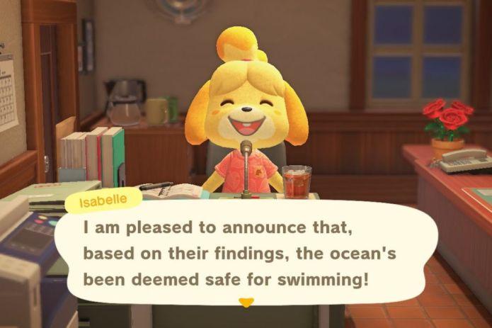 New Horizons swimming