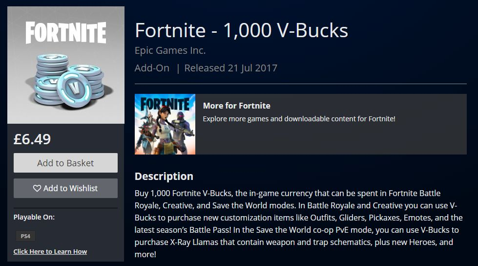 Fortnite S V Bucks Prices Just Got Permanently Cheaper Updated Cultured Vultures Can't redeem the vbucks from this card. fortnite s v bucks prices just got